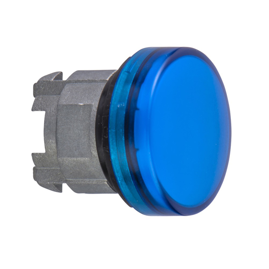 Immagine di ZB4BV063 - Testa lampada spia- Ø22 - - gemme lisce blu