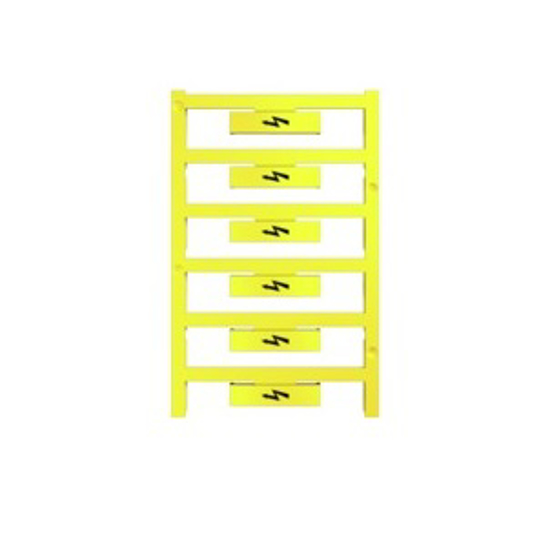 Immagine di 1120470000 - Cartellino simbolo Fulmine dim.  33.3 x 8 mm giallo