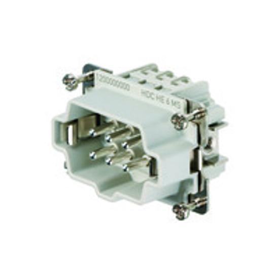Immagine di 1200000000 - Connettore maschio di potenza 500 V, 24A, 6 poli