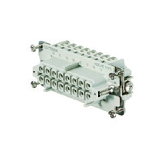 Immagine di 1207700000 - Connettore femmina di potenza 500 V, 16A, 16 poli