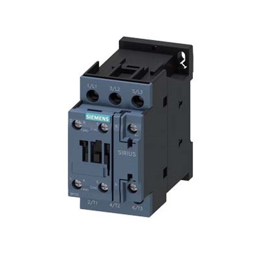 Immagine di Contattore di potenza, AC-3 12 A, 5,5 kW / 400 V 1 NO + 1 NC, 110 V CA, 50 Hz a 3 poli