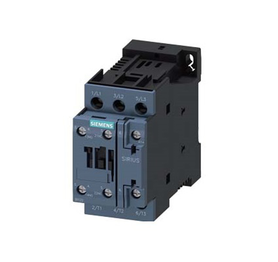 Immagine di Contattore di potenza, AC-3 12 A, 5,5 kW / 400 V 1 NO + 1 NC, 24 V DC a 3 poli
