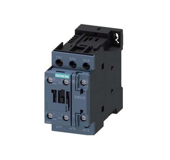 Immagine di Contattore di potenza, AC-3 38 A, 18,5 kW / 400 V 1 NO + 1 NC, 24 V DC a 3 poli
