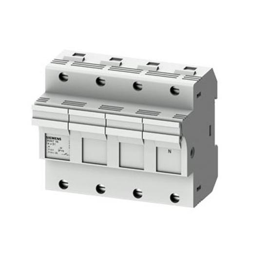 Immagine di Portafusibile cilindrico, 14x51 mm, 3P + N, In: 50 A, Un AC: 690 V