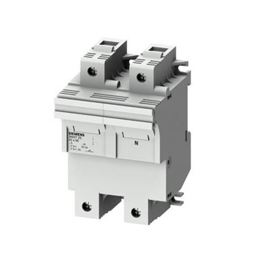 Immagine di Portafusibile cilindrico, 22x58 mm, 1P + N, In: 100 A, Un AC: 690 V