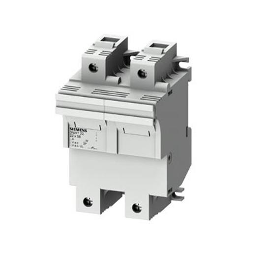 Immagine di Portafusibile cilindrico, 22x58 mm, 2 poli, In: 100 A, Un AC: 690 V