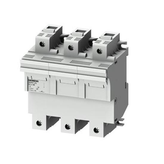 Immagine di Portafusibile cilindrico, 22x58 mm, 3 poli, In: 100 A, Un AC: 690 V, rilevatore di segnale LED