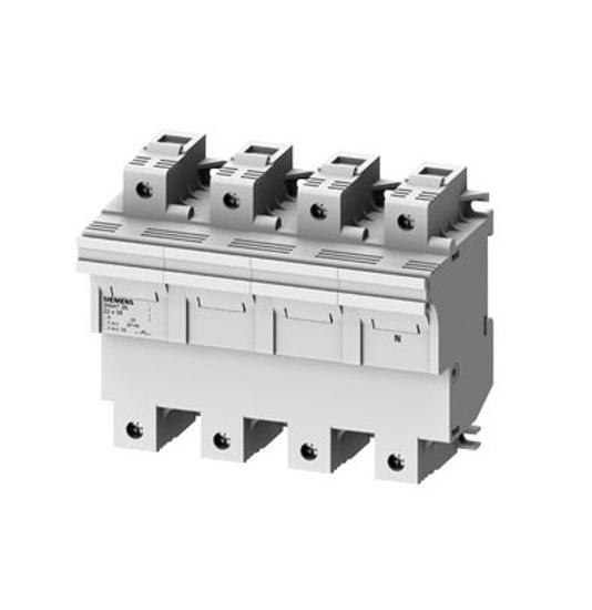 Immagine di Portafusibile cilindrico, 22x58 mm, 3P + N, In: 100 A, Un AC: 690 V