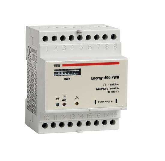 Immagine di VN964300  - Contatore di energia da barra din, progettato per la visualizzazione  dei consumi di energia attiva in sistemi trifase con o senza neutro