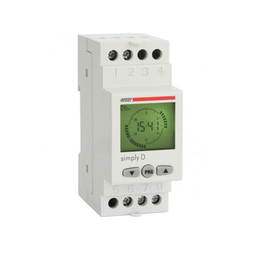 Immagine di VE512000 - Interruttore orario digitale con programmazione giornaliera mediante cavalieri virtuali, per la gestione dei carichi elettrici con la massima precisione.