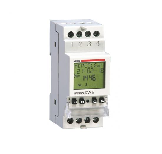 Immagine di VP871800  -  Interruttore orario digitale con programmazione giornaliera o settimanale per la gestione dei carichi elettrici con la massima precisione.