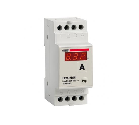 Immagine di VM260700  -  Dispositivo elettronico multifunzione da barra DIN che può essere configurato come voltmetro o amperometro per la misura a vero valore efficace (TRMS) di tensioni e correnti alternate in sistemi monofase.
