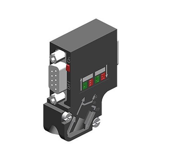 Immagine di SIMATIC DP, connettore per PROFIBUS fino a 12 Mbit/s uscita cavo a 35 gradi
