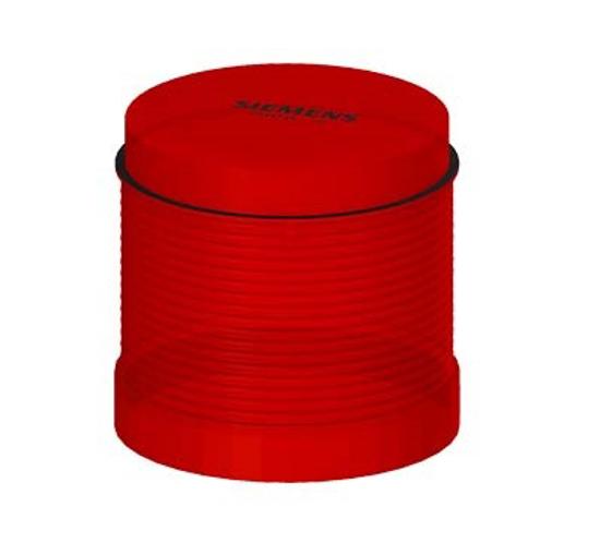 Immagine di Elemento a luce fissa, con LED integrato, rosso, AC/DC 24 V, diametro 70 mm