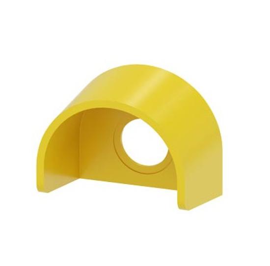 Immagine di Collare di protezione per pulsante a fungo di ARRESTO DI EMERGENZA, senza o con serratura RONIS, design 22 mm, giallo, plastica