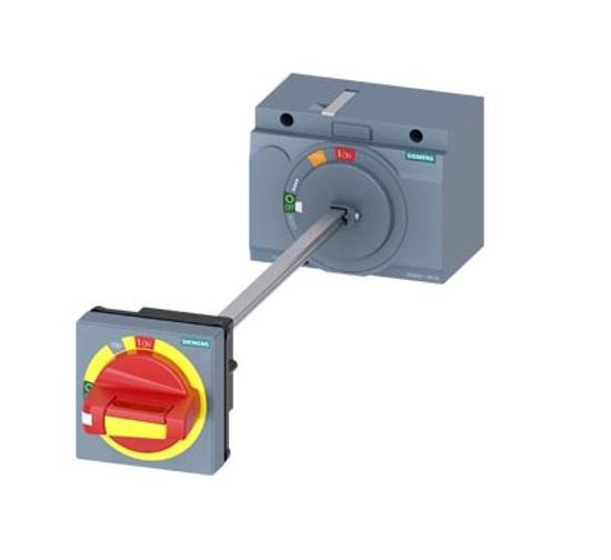 Immagine di Comando rotativo bloccoporta OFF di emergenza IEC IP65 con blocco porta Accessori per: 3VA2 100/160/250