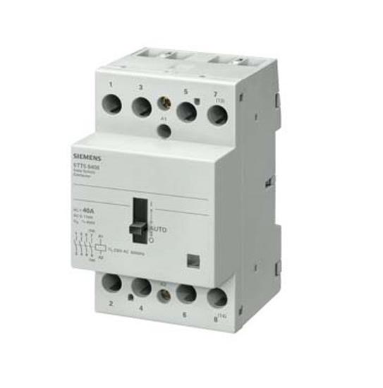 Immagine di Contattore INSTA 0/1-automatico con 4 contatti NO contatto per AC 230V, 400V 40A comando in AC 24V