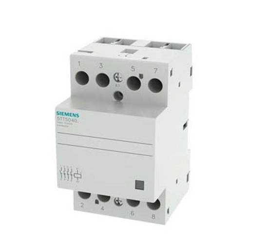 Immagine di Contattore INSTA con 4 contatti NO contatto per AC 230V, 400V 40A comando in AC/DC 24V