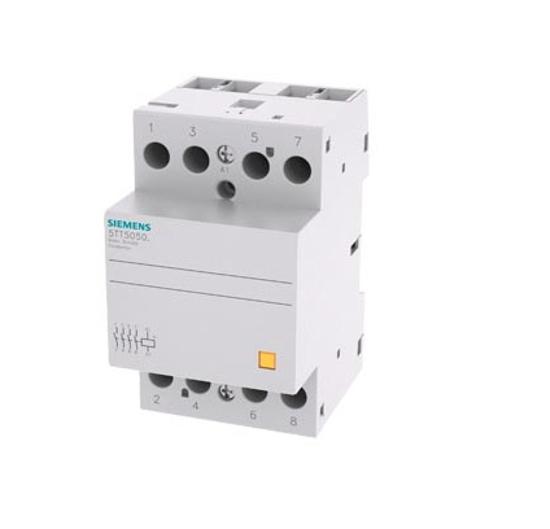 Immagine di Contattore INSTA con 4 contatti NO contatto per AC 230V, 400V 63A comando in AC 24V