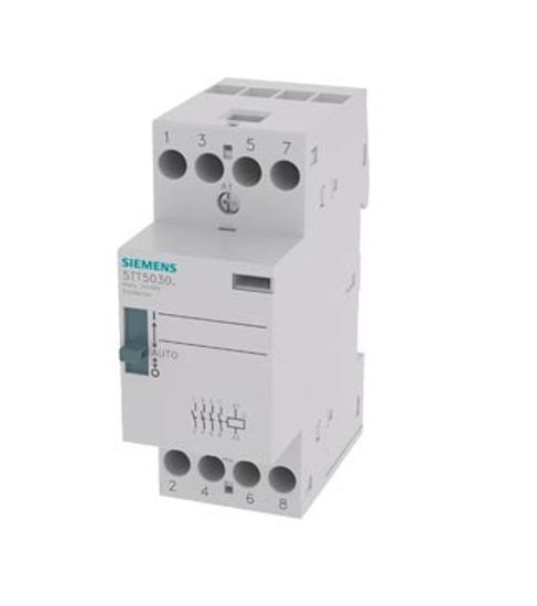 Immagine di Contattore INSTA 0/1-automatico con 4 contatti NO contatto per AC 230V, 400V 25A comando in AC 230V