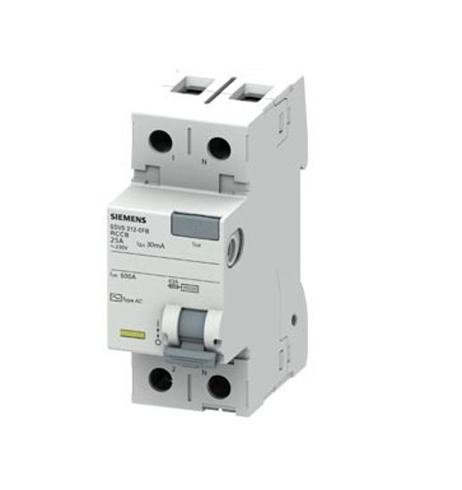 Immagine di Interruttore automatico differenziale, a 2 poli, Tipo AC, In: 25 A, 30 mA, Un AC: 230 V