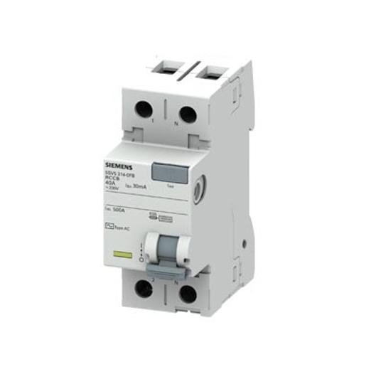 Immagine di Interruttore automatico differenziale, a 2 poli, Tipo AC, In: 40 A, 30 mA, Un AC: 230 V