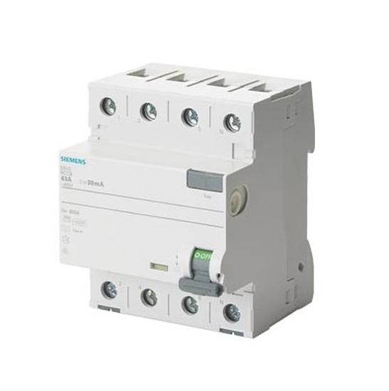 Immagine di Interruttore automatico differenziale, a 4 poli, tipo A, In: 25 A, 30 mA, Un AC: 400 V