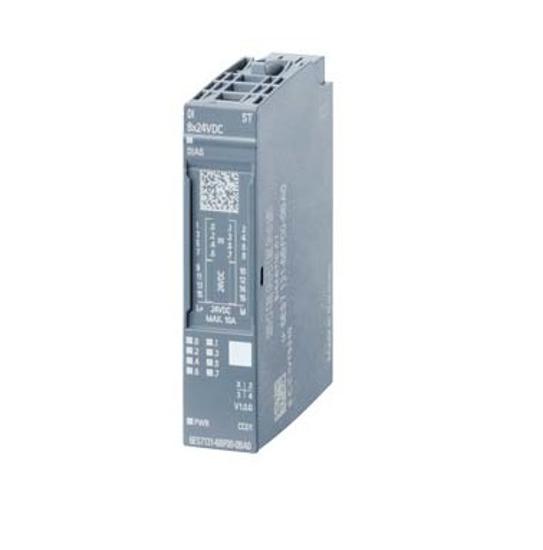 Immagine di SIMATIC ET 200SP, Modulo di ingressi digitali, DI 8x DC 24V High Feature, Tipo di ingresso 3 (IEC 61131), Sink Input, (PNP, lettura su P)