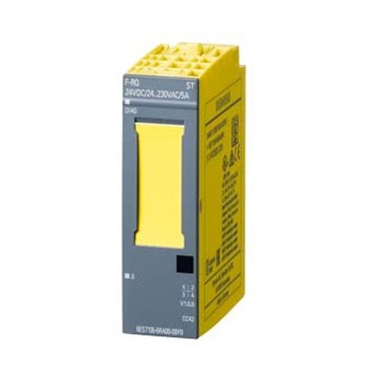 Immagine di SIMATIC DP, modulo di elettronica per ET200SP, F-RQ 1x 24VDC/24..230VAC/5A ST, Largh. costr. 20 mm, 1 uscita a relè (2S) corrente di uscita totale 5A, tensione di carico DC 24V e AC 24.. 230V