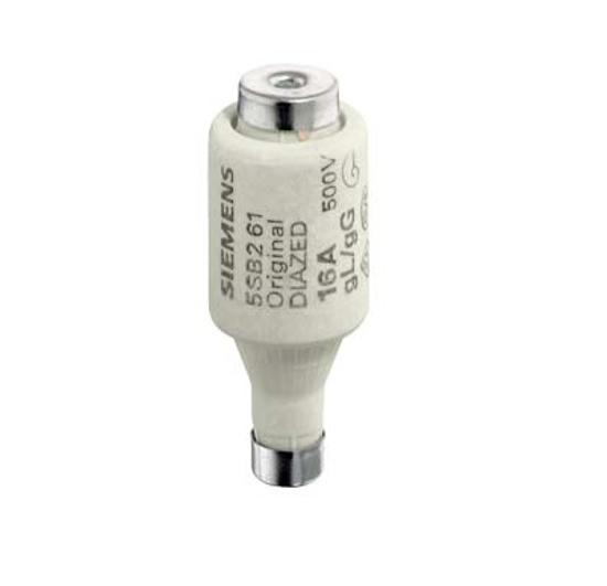 Immagine di Cartuccia fusibile DIAZED 500 V per protezione di cavi e conduttori gG, grandezza DII, E27, 4 A