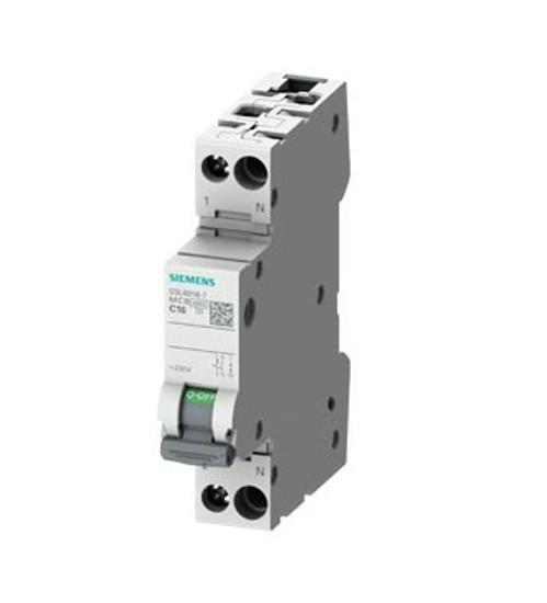 Immagine di Interruttore magnetotermico 230 V 6 kA, 1+N poli /1 UM C16