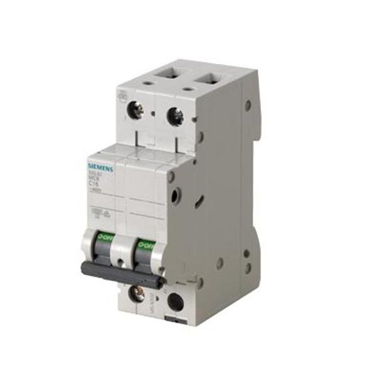 Immagine di Interruttore magnetotermico 400V 6kA, a 2 poli C, 2 A esecuzione Italia