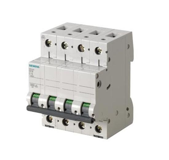 Immagine di Interruttore magnetotermico 400V 6kA, a 4 poli C, 16A esecuzione Italia