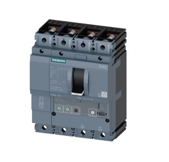 Immagine di Interruttore automatico 3VA2 IEC Frame 250 Classe del potere di interruzione M Icu=55kA @ 415V a 4 poli