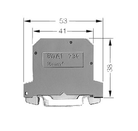 Immagine di Morsetto PEN in materiale termoplastico PA6.6 morsetti a vite su entrambi i lati verde-giallo, 12mm, Grand. 16