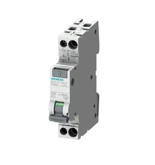 Immagine di Interruttore magnetotermico differenziale compatto 1P+N 4,5 kA tipo AC 30mA C10