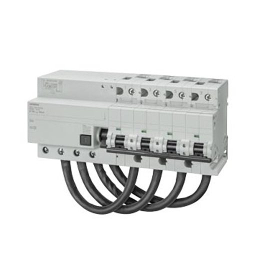 Immagine di Interruttore magnetotermico differenziale, 10 kA, 4P, tipo AC, 30 mA, Car. C, In: 125 A, Un AC: 400 V