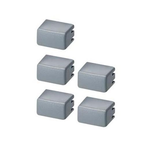 Immagine di Set di cappucci per pulsanti 5TE48 Set con ognuno 5x grigio/opaco
