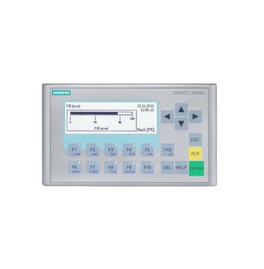 """Immagine di SIMATIC HMI KP300 Basic mono PN, Basic Panel, comando con tasti, display LCD FSTN 3"""", in bianco e nero, interfaccia PROFINET"""