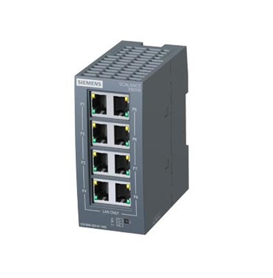 Immagine di SCALANCE XB008 unmanaged Industrial Ethernet Switch per 10/100 Mbit/s; per la configurazione di piccole strutture a stella e strutture lineari;