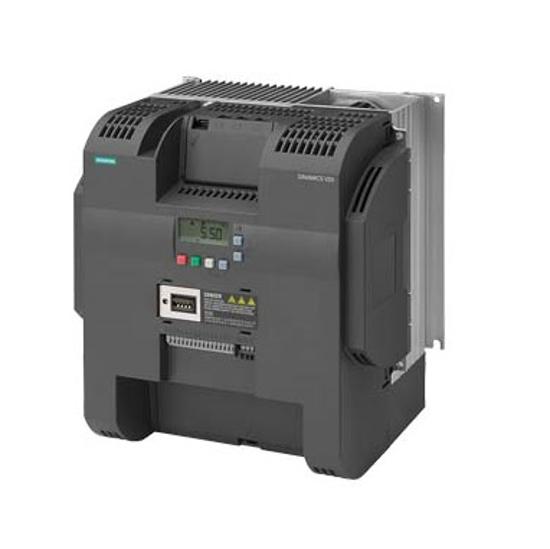 Immagine di SINAMICS V20 3AC 380 ... 480 V - 15/+ 10 % 47-6 potenza nominale 18,5 kW con sovraccarico del 150 % per 60 sec. basso sovraccarico in uscita: 22 kW con sovraccarico del 110 % per 60 sec. filtro integrato C3 interfaccia I/O: 4 DI, 2 DO, 2 AI, 1 AO