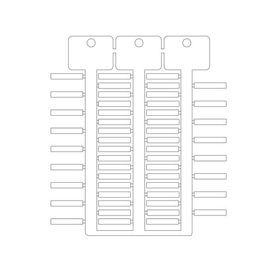 Immagine di Targhetta 4x23mm 3 steli ACS bianco