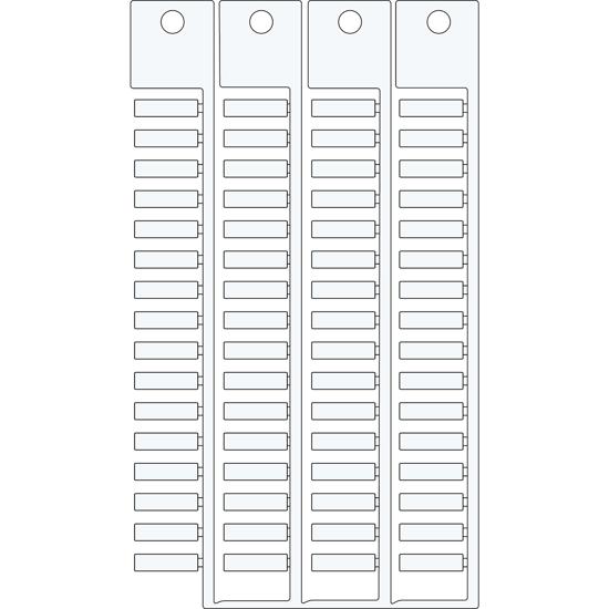 Immagine di Targhetta 4x15 4 steli bianco