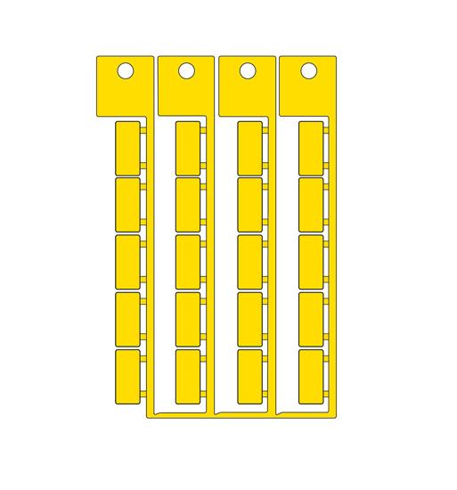 Immagine di Targhetta adesiva 9x20mm giallo
